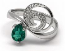 Optima Diamant Luxusní zlatý prsten se smaragdem 0,451ct a diamanty 585/3,72gr J-20251-11