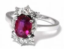 Optima Diamant Luxusní velký diamantový zásnubní prsten s rubínem 1,675ct a diamanty J-20250-11