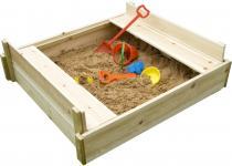 OEM Dřevěné pískoviště s lavičkou