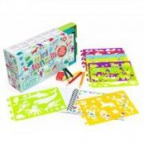 FOR BABY Kreslicí šablony s pastelkami mini box