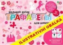 FOR BABY Kreslicí šablony s pastelkami velký box pro holčičky