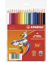 Stabilo Pastelky Trio trojhranné 18ks