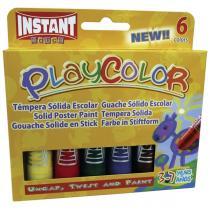 Tuhé temperové barvy PLAYCOLOR 6ks