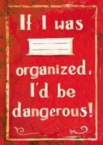 Sešit - If I was organized, I´d be dangerous!