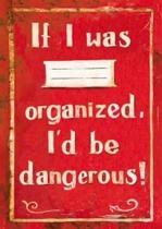 Sešit - If I was organized, I´d be dangerous!