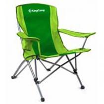 KING CAMP Campingová skládací židle s opěrkami ocel