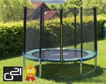 G21 Trampolína s ochrannou sítí 430 cm