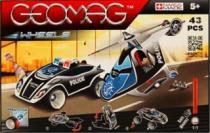 GEOMAG - Wheels Fast Chase 782 - Policejní auto a helikoptéra - 43 dílků