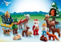 PLAYMOBIL 5497 Adventní kalendář 1.2.3 - Vánoce v lese