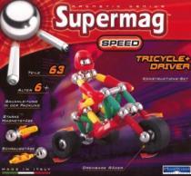 SUPERMAG Speed: Tříkolka s řidičem - 63 dílků