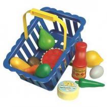 Alltoys Nákupní košík plný ovoce a zeleniny