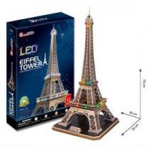 Alltoys Eiffelova věž LED 3D - 82 dílků