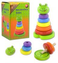 Skládačka barevné kroužky - žába