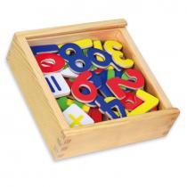 Dřevěné magnetky čísla 37ks