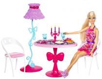 Mattel Barbie panenka a nábytek jídelna