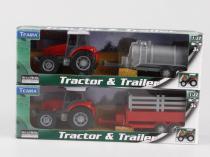 Teama Traktor s přívěsem 1:32 přívěs na seno