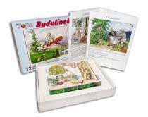 TOPA Dřevěné obrázkové kostky Budulínek