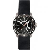 Traser Ladytime Black Leather