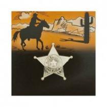 Šerifská hvězda zlatá malá 10ks