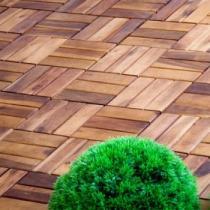 OEM Dlaždice z akátového dřeva, 30 x 30 x 2,4 cm