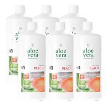 Aloe Vera Drinking Gel s příchutí broskví Série 6 ks 6 x 1000 ml