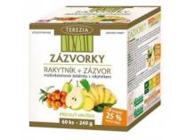 Terezia company ZÁZVORKY multivitamínové želatinky s rakytníkem a zázovrem 60 ks
