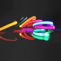 Reedog svítící obojek pro malé a střední psy - růžová 32 - 50 cm