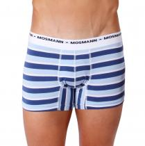 Mosmann Australia Boxer Eco Riviera Blue/Light Blue Stripe