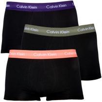 Calvin Klein Cotton Stretch Low Rise Trunk Grey Violet Orange