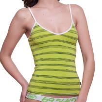69SLAM Tílko 69SLAM Top Bamboo Lime Green Stripes