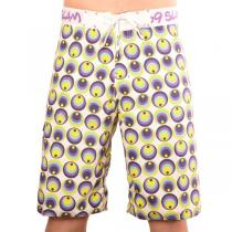 69SLAM Plavky Boardshort Circles Blue