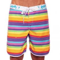 69SLAM Plavky Krátké Boardshort Medium Lines Ice Cream