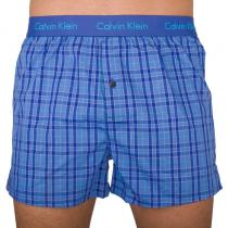 Calvin Klein Trenýrky Slim Fit Boxer Blue Plaid