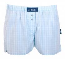 Trenzle trenýrky bavlněné BYE29 modro/bílé kostky