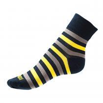 Phuseckle ponožky modro/žluté pruhy