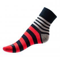Phuseckle ponožky modro/červené pruhy