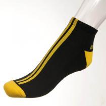 Phuseckle ponožky černé / žluté pruhy