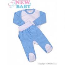 NEW BABY 2-dílná souprava Puntík modrá