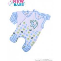 NEW BABY 2-dílná soupravička Sloník bílo-modrá