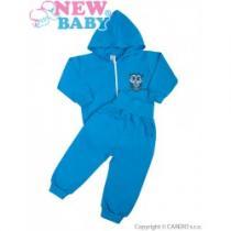 NEW BABY 2-dílná soupravička Sovička modrá