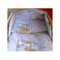 NEW BABY 3-dílné ložní povlečení 100/135 cm modré s medvídkem
