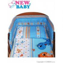 NEW BABY 3-dílné ložní povlečení 90/120 cm modré s dinem