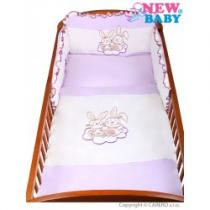 NEW BABY 3-dílné ložní povlečení Bunnies 100/135 fialové