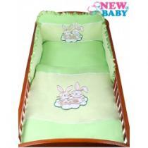 NEW BABY 3-dílné ložní povlečení Bunnies 100/135 zelené