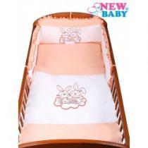 NEW BABY 3-dílné ložní povlečení Bunnies 90/120 oranžové