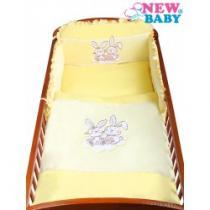 NEW BABY 3-dílné ložní povlečení Bunnies 90/120 žluté