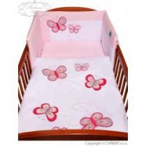 BELISIMA 5-dílné ložní povlečení Motýlek 100/135 růžové