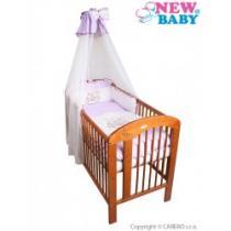 NEW BABY 7-dílné ložní povlečení Bunnies 100/135 fialové