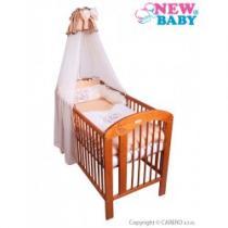 NEW BABY 7-dílné ložní povlečení Bunnies 100/135 hnědé