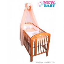 NEW BABY 7-dílné ložní povlečení Bunnies 100/135 oranžové